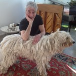 A special moment with A. G. and a sweet  Komondor pooch!