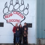 In Haines Junction the Thompson family hosted my concert at Bear Creek Logging.