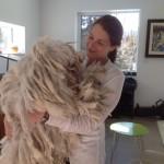 Lise Faronowski, of Whitehorse, YT, and one of her lovely Komondor dogs.